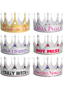 Bride To Be Bachelorette Party Crowns