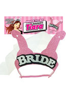 Bride To Be Naughty Tiara Pink And Black And Silver