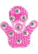 Simple And True Roller Balls Massager Glove Pink