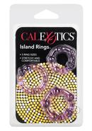Siicone Island Rings Purple 3 Sizes